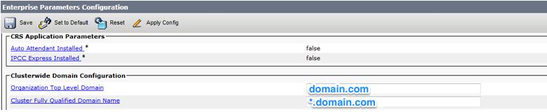 CUCM Top level domain