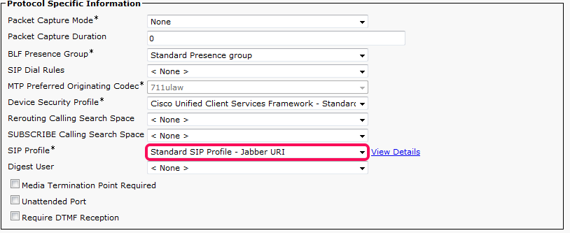CUCM Registered Device assigned SIP Profile